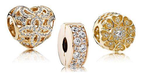 Pandora Charm-Anhaenger Gold
